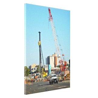 Construction equipments gallery wrap canvas