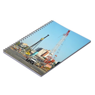 Construction equipments spiral notebook
