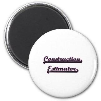 Construction Estimator Classic Job Design 2 Inch Round Magnet