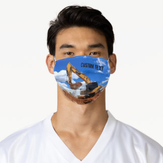 Construction Excavator Adult Cloth Face Mask