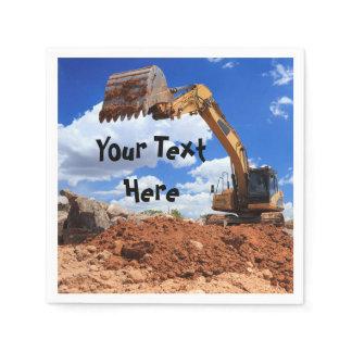 Construction Excavator Digger Napkin