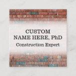 Construction Expert Business Card