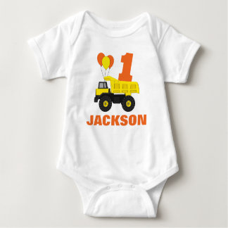 Construction First Birthday Outfit, Baby Bodysuit