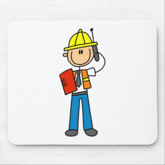 Construction Foreman on Cellphone Mousepad
