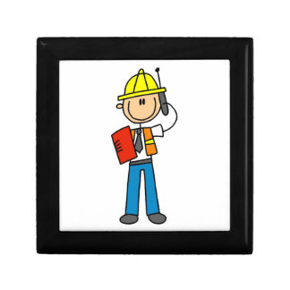 Construction Foreman T-shirts and Gifts Trinket Box