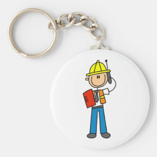 Construction Foreman T-shirts and Gifts Key Chains