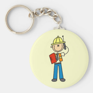 Construction Foreman T-shirts and Gifts Keychain