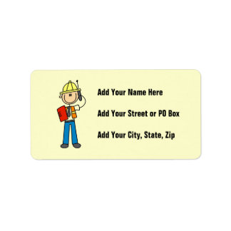 Construction Foreman T-shirts and Gifts Label