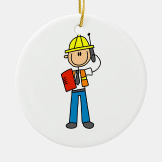 Construction Foreman T-shirts and Gifts Ornaments