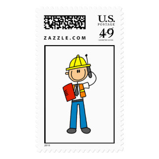Construction Foreman T-shirts and Gifts Postage Stamp