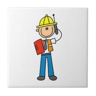 Construction Foreman T-shirts and Gifts Tiles