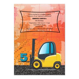 Construction Forklift Invitation