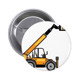 Construction Forklift Pinback Button