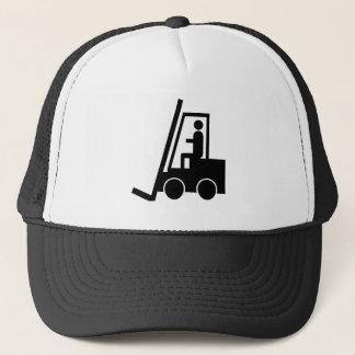CONSTRUCTION FORKLIFT VEHICLE GRAPHIC LOGO TRUCKER HAT