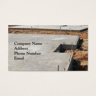 Construction Foundation Business Card