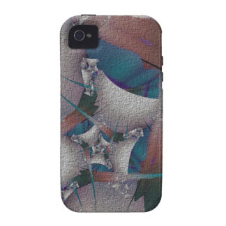 Construction Fractal Vibe iPhone 4 Cover