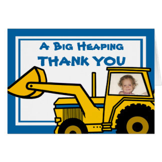 Construction Fun/ Backhoe Stationery Note Card