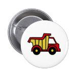 Construction Fun/ Dump Truck 2 Inch Round Button