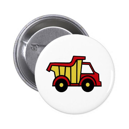 Construction Fun/ Dump Truck Pinback Button