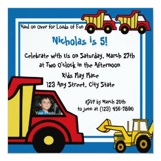 Construction Fun/ Dump Truck Card