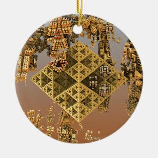 """Construction"" futuristic abstract art Ceramic Ornament"