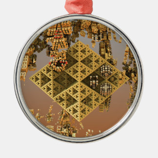 """Construction"" futuristic abstract art Christmas Tree Ornament"