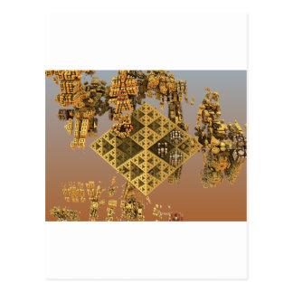 """Construction"" futuristic abstract art Postcard"
