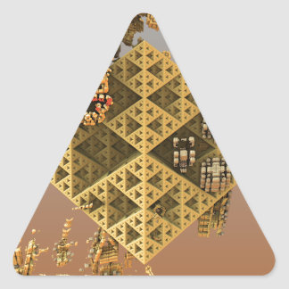 """Construction"" futuristic abstract art Triangle Sticker"