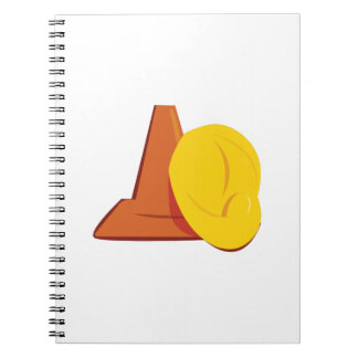 Construction Gear Spiral Notebook