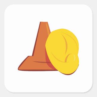 Construction Gear Square Sticker