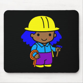 Construction Girl 1 Mouse Pad