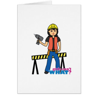 Construction Girl - Medium Card