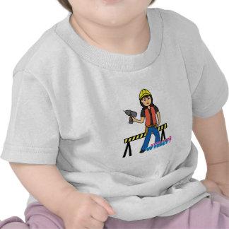 Construction Girl - Medium Shirts