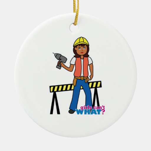 Construction Girl Ornament