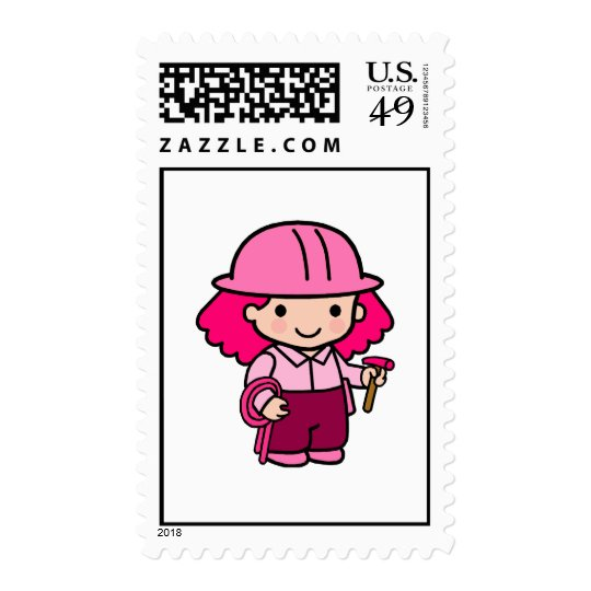 Construction Girl Postage