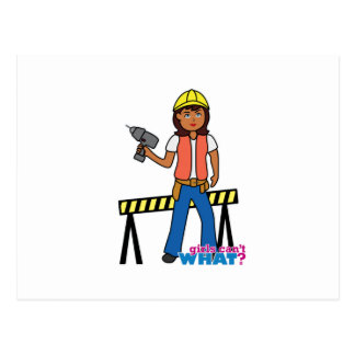 Construction Girl Postcard