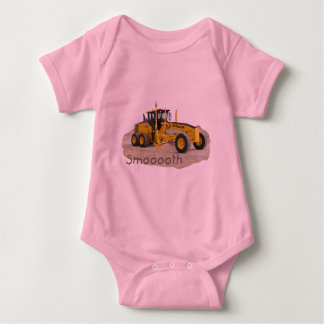 Construction grader Smooth Baby Bodysuit