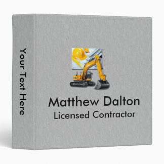 """Construction Gray with Backhoe Binder 1.5"""""""
