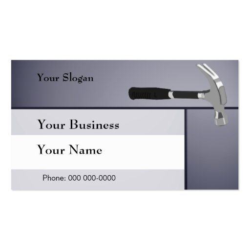 construction hammer business card template zazzle