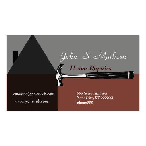 Construction Handyman Tool Business Card