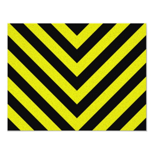 Construction Hazard Stripes Card