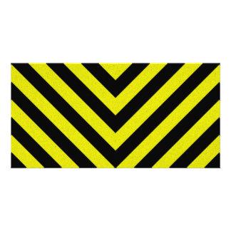 Construction Hazard Stripes Card