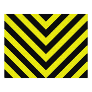 Construction Hazard Stripes Flyer