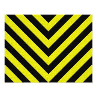 Construction Hazard Stripes Flyer