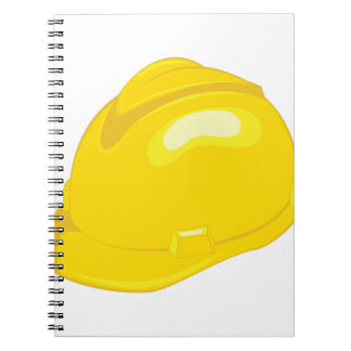 Construction Helmet Spiral Notebook