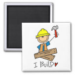 Construction I Build T-shirts and Gifts Magnets