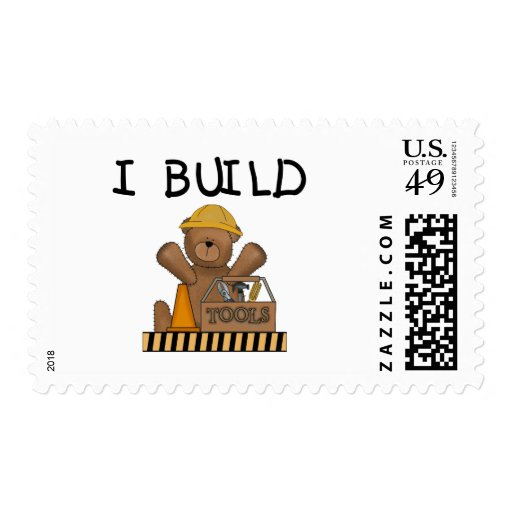 Construction I Build Tshirts and Gifts Postage Stamp