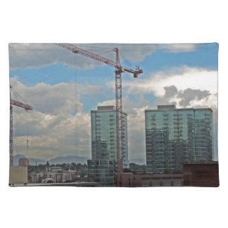 Construction in Downtown Denver Colorado Cloth Placemat