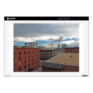 """Construction in Downtown Denver Colorado Decal For 17"""" Laptop"""
