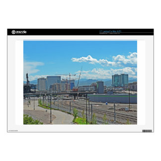 Construction in Downtown Denver Colorado Decal For Laptop